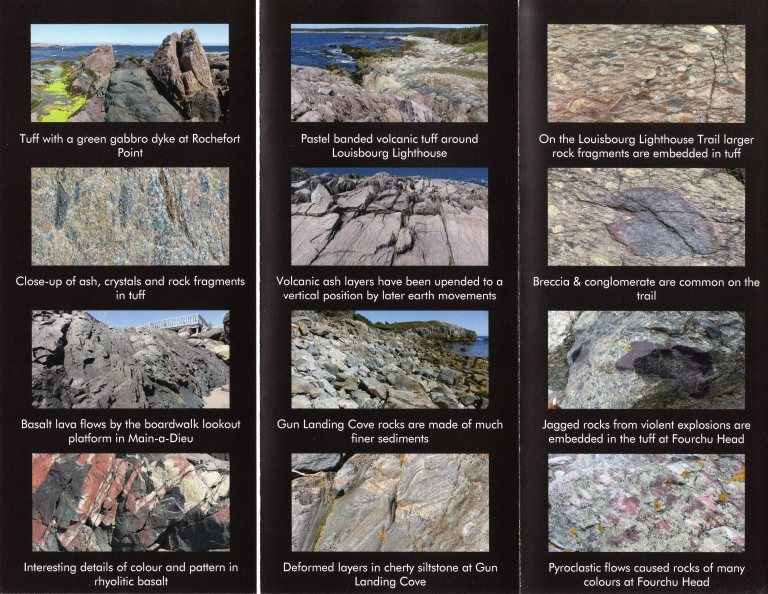 Leaflet about rocks in the Louisbourg area of Cape Breton