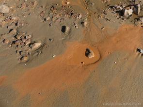 Orange mud on Rhossili beach