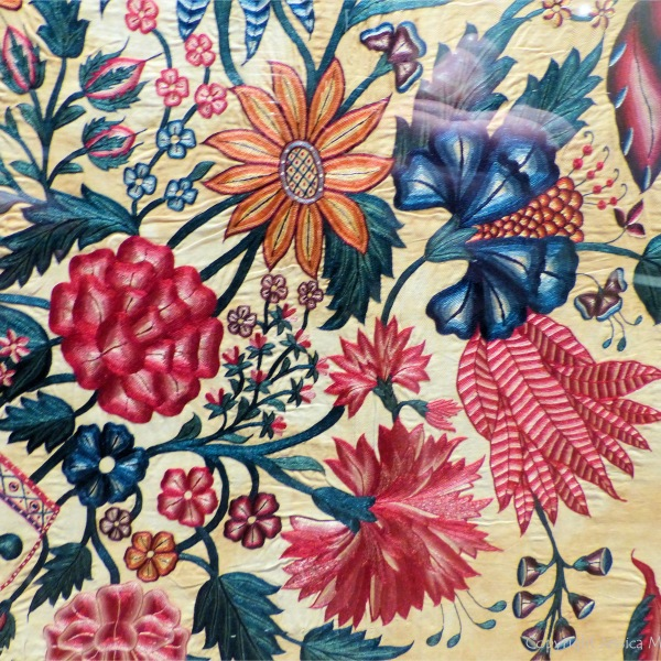 18th century Indian embroidered flowers