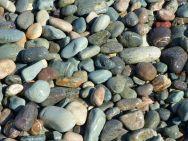 Pebbles at Gun Landing Cove in Cape Breton, Nova Scotia