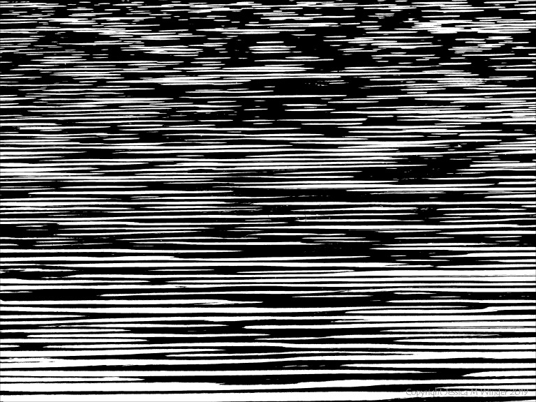 Natural water ripple patterns in black and white