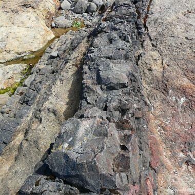 Extruded basalt rock on the Oregon Coast