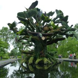 The Bird Tree Mosaiculture horticultural design at Jardin Botanique de Montreal