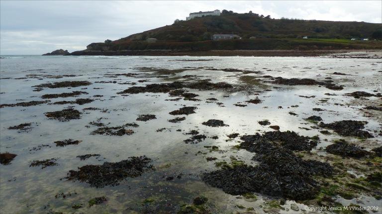 Incoming tide at Longis Bay