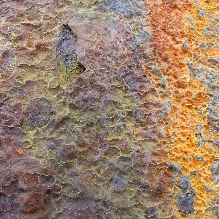 Rust colour, pattern and texture