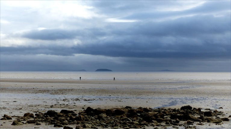 Beachscape with storm clouds on a winter's day