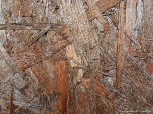 Texture detail in weathered chipboard
