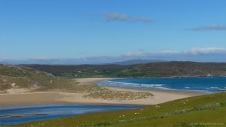 View of Torrisdale Bay in Sutherland