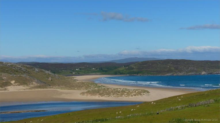 View of Torrisdale Bay in Sutherland