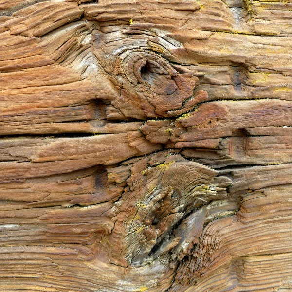 Recycled weathered railway sleeper texture detail