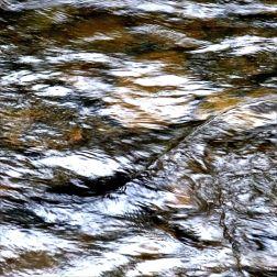 Fast water flowing in the Afon Llwyd