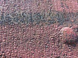 Weathered paintwork on iron