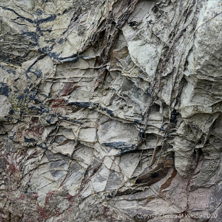 Rock texture at Caswell Bay