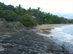 Rocks at Trinity Beach in Queensland