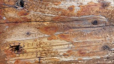 Wood texture in recycled railway sleepers