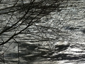 River water texture in fast flow