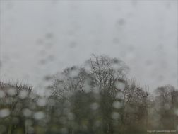 Rainy day view from a window - Storm Ciara