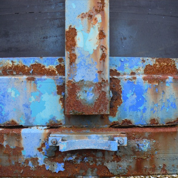 Rusty blue paintwork