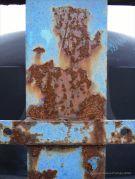 Rusty blue paintwork