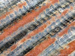Patterns on weathering corrugated iron