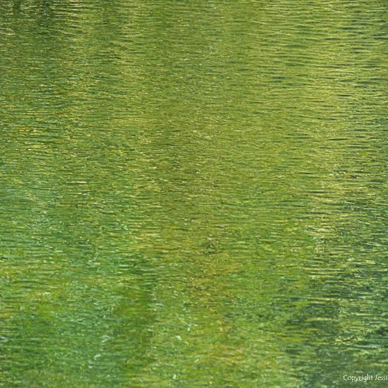 Abstract water pattern of reflection and texture on a lake