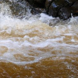 River water texture after a storm