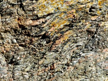 Rock texture and pattern at Moulin Huet Bay