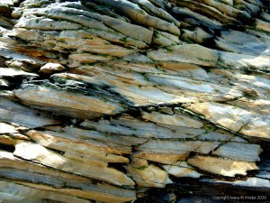 Rock texture and pattern at Garretstown in County Cork