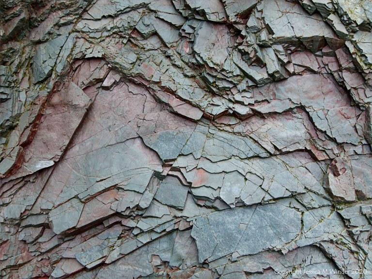 Natural abstract patterns in rocks