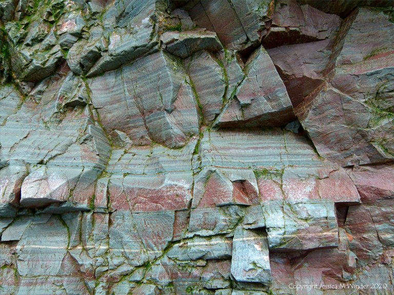 Natural abstract pattern and texture in rocks