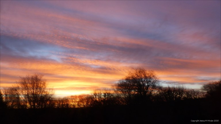 Sky at sunrise in Charlton Down