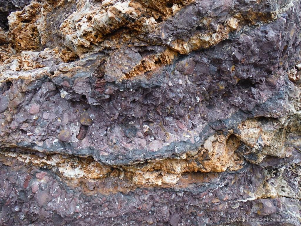 Devonian rocks at Trabeg on Dingle in Ireland.