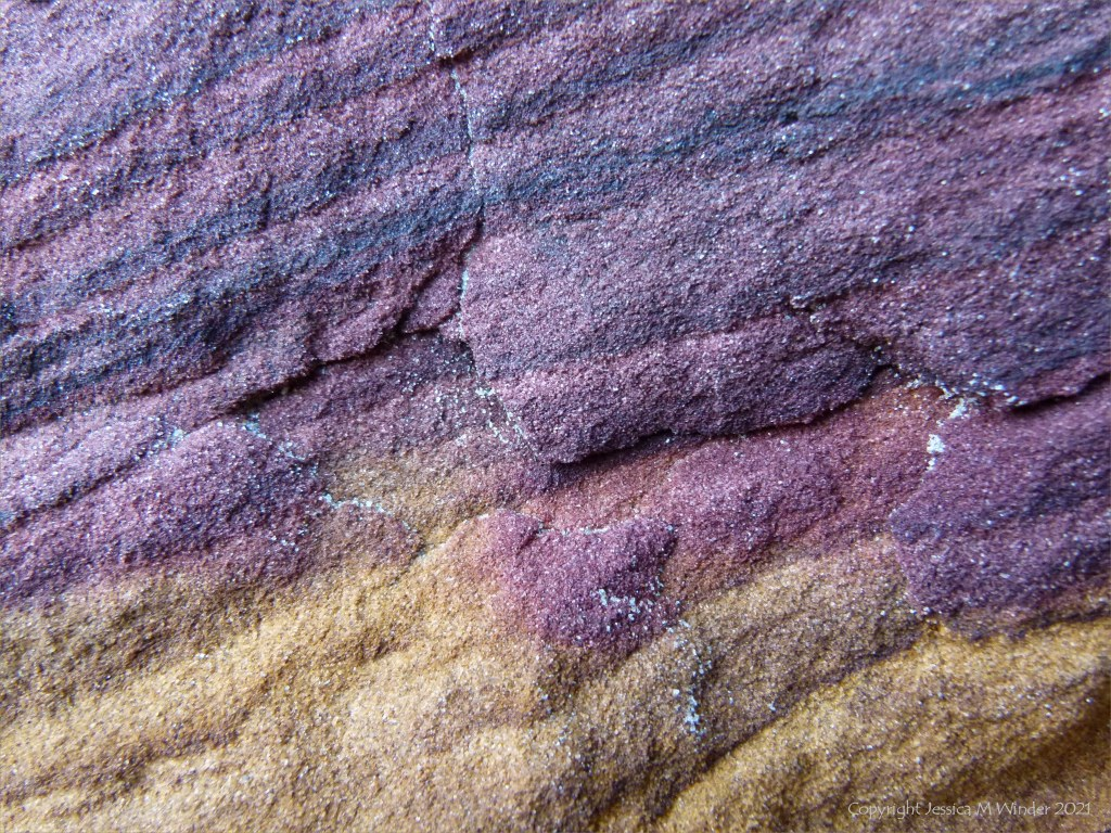 Close-up of natural pattern and texture in rock