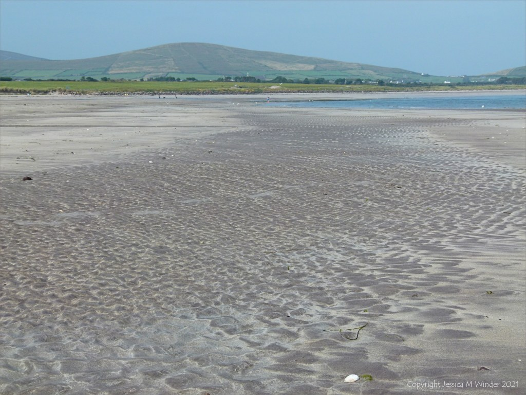 Sandy beach with ripples at Ventry Bay